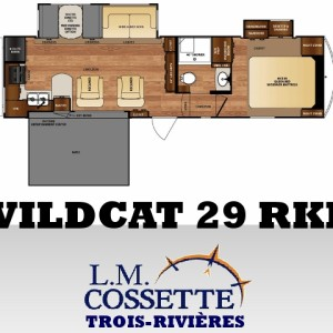 Wildcat 29 RKP 2016 - LM Cossette inc. vr roulotte caravane fifth wheel rv travel trailer