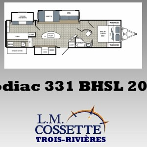Kodiac 331 BHSL 2018 - LM Cossette inc. vr roulotte fifth wheel caravane rv travel trailer