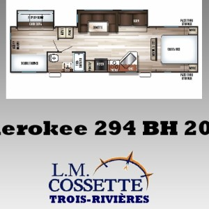 Cherokee 294 BH 2018 - LM Cossette inc. vr roulotte fifth wheel caravane rv travel trailer