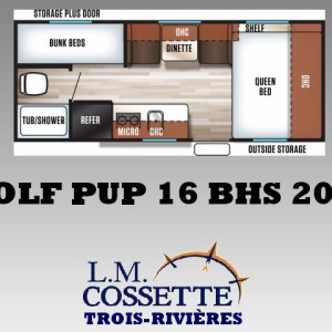 Wolf Pup 16 BHS 2019 - LM Cossette inc. vr roulotte fifth wheel caravane rv travel trailer