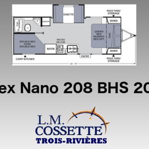 Apex Nano 208 BHS 2019 - LM Cossette inc. vr roulotte fifth wheel caravane rv travel trailer