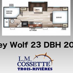 Grey Wolf 23 DBH 2019 - LM Cossette inc. vr roulotte fifth wheel caravane rv travel trailer