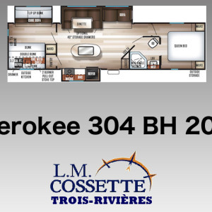 Cherokee 304 BH 2019 - LM Cossette inc. vr roulotte fifth wheel caravane rv travel trailer