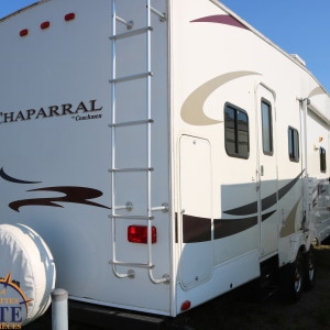 Chaparral 340 QB 2008 - LM Cossette inc. vr roulotte fifth wheel caravane rv travel trailer - cherokee grey wolf wolf pup kodiak apex arctic wolf