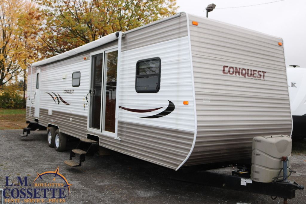 Conquest 36 FRSG 2013 - LM Cossette inc. vr roulotte fifth wheel caravane rv travel trailer - cherokee wolf pup grey wolf arctic wolf apex nano kodiak