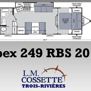 Apex 249 RBS 2019 - LM Cossette inc. vr roulotte fifth wheel caravane rv travel trailer - cherokee grey wolf pup kodiak aspen trail arctic wolf alpha wolf cub apex nano
