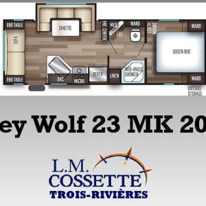 Grey Wolf 23 MK 2019 - LM Cossette inc. vr roulotte fifth wheel caravane rv travel trailer - cherokee grey wolf pup kodiak aspen trail arctic wolf alpha wolf cub apex nano