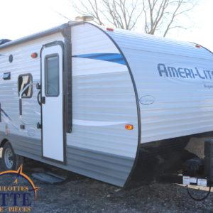 Ameri-Lite 199 DD 2019 -LM Cossette inc. vr roulotte fifth wheel caravane rv travel trailer - cherokee grey wolf pup kodiak aspen trail arctic wolf alpha wolf cub apex nano