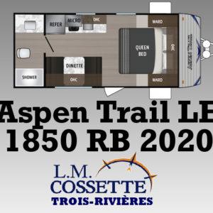 Aspen Trail 1850 RB 2020 -LM Cossette inc. vr roulotte fifth wheel caravane rv travel trailer - cherokee grey wolf pup kodiak aspen trail arctic wolf alpha wolf cub apex nano