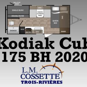 Kodiak Cub 175 BH 2020 LM Cossette inc. vr roulotte fifth wheel caravane rv travel trailer - cherokee grey wolf pup kodiak aspen trail arctic wolf alpha wolf cub apex nano