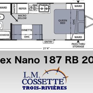 Apex Nano 187 RB 2020 LM Cossette inc. vr roulotte fifth wheel caravane rv travel trailer - cherokee grey wolf pup kodiak aspen trail arctic wolf alpha wolf cub apex nano