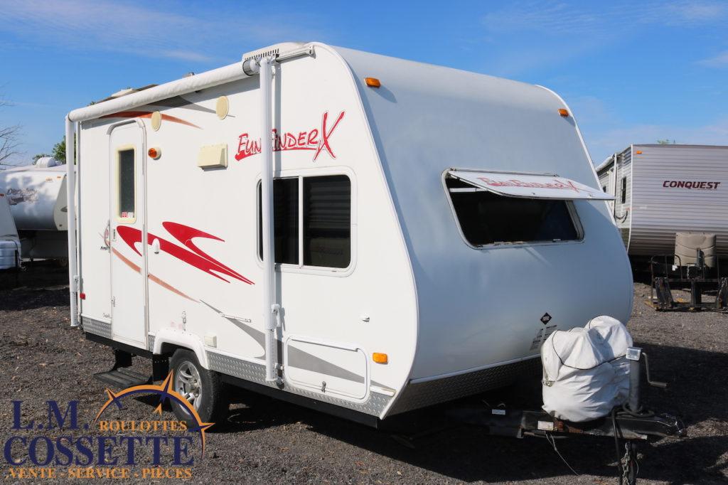 Fun Finder X-160 2008 LM Cossette inc. vr roulotte fifth wheel caravane rv travel trailer - cherokee grey wolf pup kodiak aspen trail arctic wolf alpha wolf cub apex nano