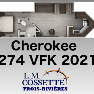 Cherokee 274 VFK 2021 -LM Cossette inc. vr roulotte fifth wheel caravane rv travel trailer - cherokee grey wolf pup kodiak aspen trail arctic wolf alpha wolf cub apex nano roulotte a vendre trois-rivières