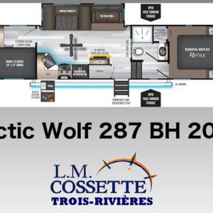 Arctic Wolf 287 BH 2020 -LM Cossette inc. vr roulotte fifth wheel caravane rv travel trailer - cherokee grey wolf pup kodiak aspen trail arctic wolf alpha wolf cub apex nano roulotte a vendre trois-rivières