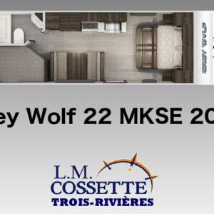 Grey Wolf 22 MKSE 2021-LM Cossette inc. vr roulotte fifth wheel caravane rv travel trailer - cherokee grey wolf pup kodiak aspen trail arctic wolf alpha wolf cub apex nano roulotte a vendre trois-rivières