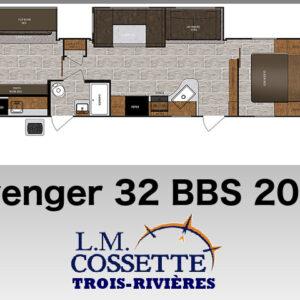 Avenger 32 BBS 2017 --LM Cossette inc. vr roulotte fifth wheel caravane rv travel trailer - cherokee grey wolf pup kodiak aspen trail arctic wolf alpha wolf cub apex nano roulotte a vendre trois-rivières