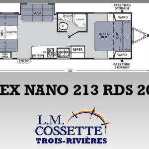 Apex Nano 213 RDS 2021--LM Cossette inc. vr roulotte fifth wheel caravane rv travel trailer - cherokee grey wolf pup kodiak aspen trail arctic wolf alpha wolf cub apex nano roulotte a vendre trois-rivières