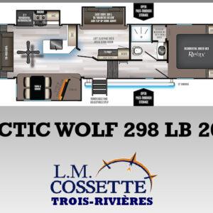 Arctic Wolf 298 LB 2021--LM Cossette inc. vr roulotte fifth wheel caravane rv travel trailer - cherokee grey wolf pup kodiak aspen trail arctic wolf alpha wolf cub apex nano roulotte a vendre trois-rivières