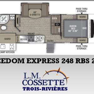 Freedom Express 248 RBS 2021-LM Cossette inc. vr roulotte fifth wheel caravane rv travel trailer - cherokee grey wolf pup kodiak aspen trail arctic wolf alpha wolf cub apex nano roulotte a vendre trois-rivières