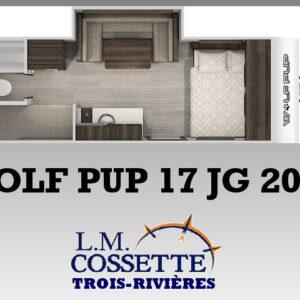 Wolf Pup 17 JG 2021 --LM Cossette inc. vr roulotte fifth wheel caravane rv travel trailer - cherokee grey wolf pup kodiak aspen trail arctic wolf alpha wolf cub apex nano roulotte a vendre trois-rivières