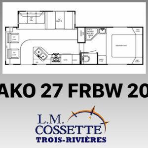 Mako 27 FRBW 2011 --LM Cossette inc. vr roulotte fifth wheel caravane rv travel trailer - cherokee grey wolf pup kodiak aspen trail arctic wolf alpha wolf cub apex nano roulotte a vendre trois-rivières