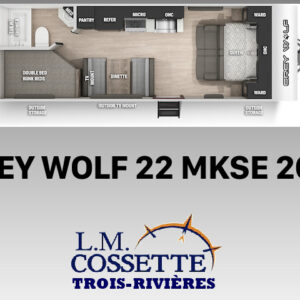 Grey Wolf 22 MKSE 2021--LM Cossette inc. vr roulotte fifth wheel caravane rv travel trailer - cherokee grey wolf pup kodiak aspen trail arctic wolf alpha wolf cub apex nano roulotte a vendre trois-rivières