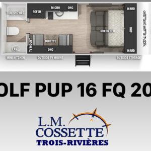 Wolf Pup 16 FQ 2021--LM Cossette inc. vr roulotte fifth wheel caravane rv travel trailer - cherokee grey wolf pup kodiak aspen trail arctic wolf alpha wolf cub apex nano roulotte a vendre trois-rivières